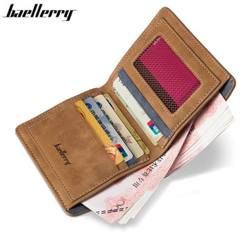 High Quality Soft Leather Wallet Men Vintage Style Men Wallets Leather Purse Male Credit Card Holder Men Wallets Coin Pocket
