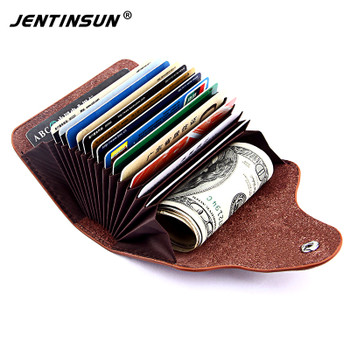 2017 New Genuine Leather Women Men Card Holder Fashion Cowhide Wallet For Credit Card Business Card Holders Organizer Bag Purse
