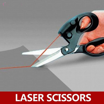 High Quality Straight Fast Laser Guided Scissors Sewing Laser Scissors Cuts Household Scissors with Battery