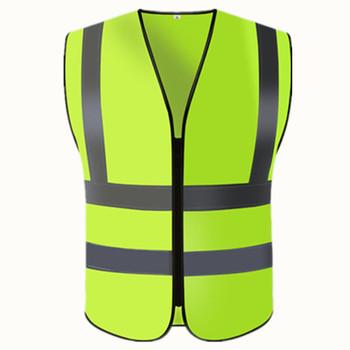 free shipping 1pcs wholesale safety vest polyester knitted safety vest reflective vest construction /traffic safety clothing