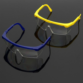 Protective Glasses Blue and White Color Safety Goggles Eye Protection Workplace Safety Supplies