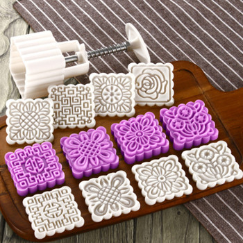 Eid Mubarak Ramadan Party 25g 50g 75g Moon Cake Mold DIY Mooncake Tools Plastic Pastry Cake Plungers Hand Press Mooncake Mould