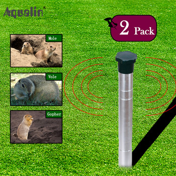2018 New Arrival Ultrasonic Animal Repeller Mole,Snakes ,Vole,Gopher Repellent  Pest Control for Home,Garden,Lawn #32052