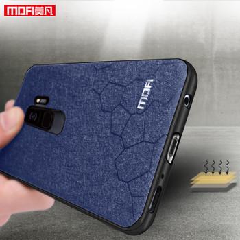 For samsung s9 plus case for samsung galaxy S9 plus case slim cover luxury leather for samsung s9 case blue black original MOFI