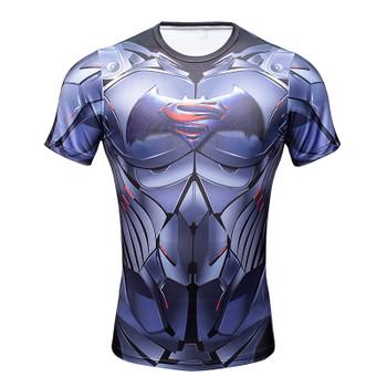 2016 Compression Shirt Superman Captain America Iron man 3D Print T-Shirt Superhero Marvel Comics Mens Style T Shirt