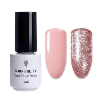 BORN PRETTY Rose Gold Nail Glitter Polish Shining Colors Soak Off UV & LED Gel Varnish Long Lasting Nail Art Gel Polish