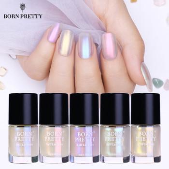 BORN PRETTY Shell Glitter Nail Polish 9ml Transparent Glimmer Shiny Lacquer Varnish Manicure Nail Art Polish
