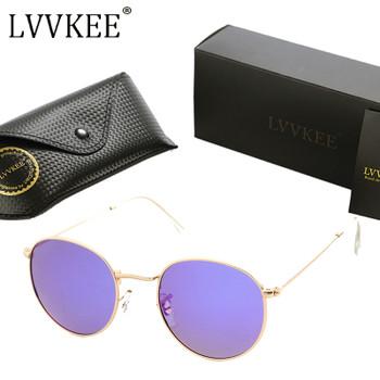 2017 hot Brand Designer Female Round Lens Mirror Polarized Sunglasses Retro Women Men Metal Frame Circle Sunglass UV400 Oculos