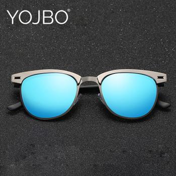 e4365ebf260 YOJBO Aviator Sunglasses Men Polarized 2018 Male Ladies Retro Mirror Women Vintage  Shades Luxury Brand Designe