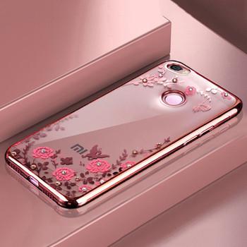 Plating soft tpu case for Xiaomi Redmi Note 5A Pro Prime cover For Xiaomi Redmi Note 4X 4 4 Pro 4A Redmi 5 5 Plus 5A Case Flower