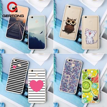 GerTong Phone Back Case For Xiaomi Redmi 4X 4A 4 Pro Prime Note 4 4X Pro 2 3S 3 Pro 3X Mi A1 Mi5X Mix 2 Pattern Soft TPU Cover