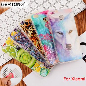 GerTong Soft TPU Cover Phone Case for Xiaomi Redmi Note 4X 4 Pro 4A 3 Mi6 Mi5 Mi5S Mi Max Mix 2 Painted Mobile Phone Housing