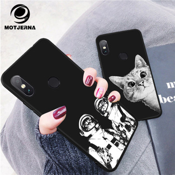 Motjerna Black Matte Pattern Soft TPU Case For Xiaomi Redmi 4X Note 4 4A 5 5A 5 Plus Back Cover Shell for xiaomi mi A1 Mi 5X