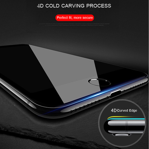 LEWEI 5D Tempered Glass for iPhone X Curved Edge Full Cover New 4D Tempered Glass for iPhone 8 7 6 6s Plus Screen Protector Film