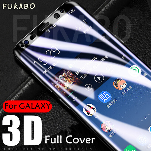 3D Curved Full Cover 9H Tempered Glass For Samsung galaxy S7 S6 edge Screen Protector film For Samsung S8 S9 Plus Note 8 Glass
