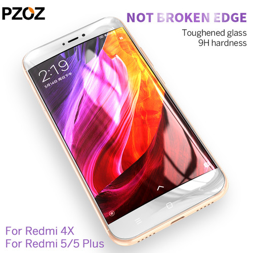 Pzoz xiaomi redmi 4x 5 plus glass tempered cover prime screen protector redmi 4x glass protective Clear phone xiomi redmi 5 film