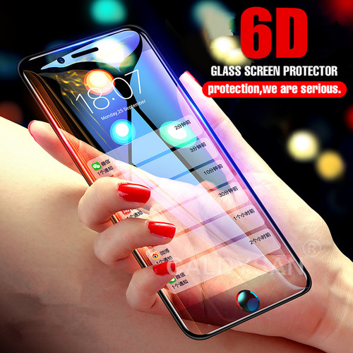 6D Curved Tempered Glass For IPhone 8 6 6s 7 Plus Screen Protector Glass For IPhone X 10 6 6s 7 8 Plus Protective Glass Film