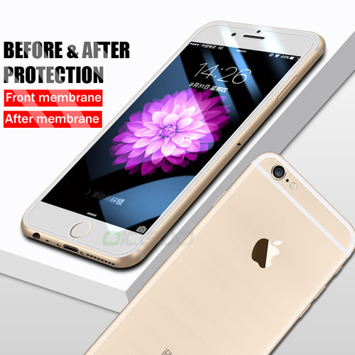 OICGOO Front and Back 2PCS Tempered Glass For iPhone X 6 6s 7 8 Plus 5 5S SE Screen Protector Film For iPhone 7 8 6s Rear Glass