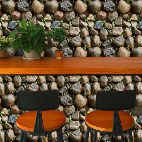 Antique Stone Self adhesive Wallpaper Waterproof Stone Wallpapers Brick Wall Paper Decorative Wall Stickers SA-1015