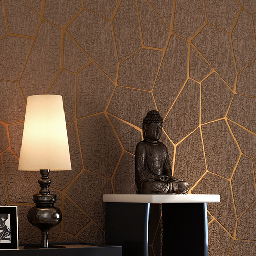 Luxury Modern Geometric Pattern Thicken 3D Stereoscopic Non-woven Fabric Wallpaper Bedroom Living Room TV Background Wall Paper