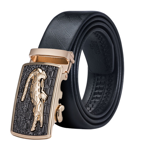 DK-0088 DiBanGu Designer Belts for Men High Quality Male Genuine Leather Strap with Automatic Buckle Ceinture Homme  110-130cm