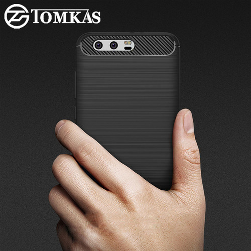 TOMKAS Case Huawei Honor 9 Case Fashion Soft Silicone Phone Cases For Huawei Honor 9 Cover TPU Carbon Fiber Texture For Honor 9