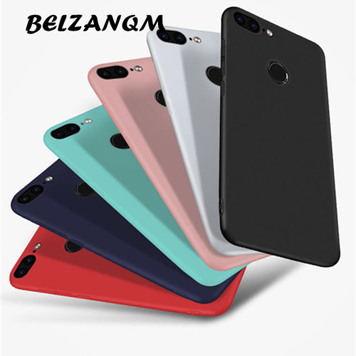 "Cover For Huawei Honor 9 Lite 360 Protection Soft Silicone Matte Case For Huawei P smart 5.65"" Enjoy 7s Candy Cases Capa Fundas"