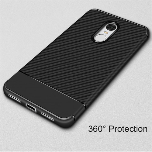 Thouport Silicone Case For Xiaomi Redmi Note 4X Carbon Fiber ShockProof Soft TPU Phone Cover For Xiaomi Redmi Note 4 Case