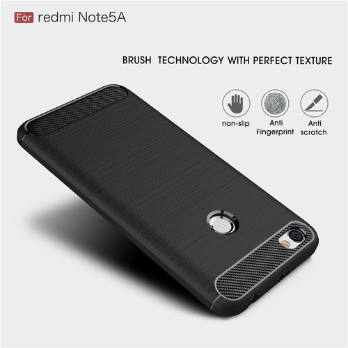 Silicone Case For Xiaomi Redmi Note 5A Prime Carbon Fiber Soft TPU ShockProof Silicon Cover For Xiaomi Redmi 5A Case