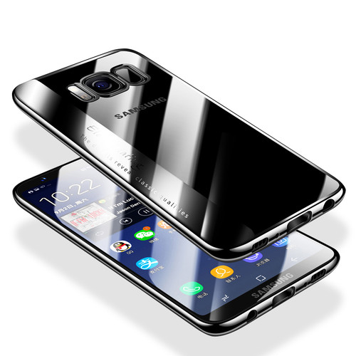 Full Cover Silicone Case For Samsung Galaxy S9 S9 Plus S8 Plus Plating Transparent TPU Case For Samsung Note 8 Protective Cases