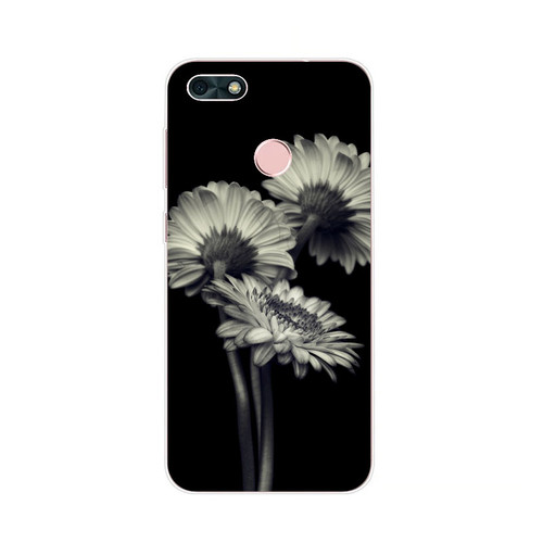 huawei p9 lite mini Case,Silicon Colorful flowers Painting Soft TPU Back Cover for huawei p9 lite mini Phone protect cases shell
