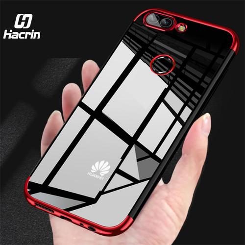 for Huawei P Smart Case Transparent Plating Silicone Case For Huawei P Smart Cover Soft TPU Protective Cover Bumper Ultra Slim