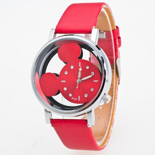 Relogio Feminino Luxo 2018 Ladies Watch With Crystals Clocks Women Luxury Quartz With Leather Mickey Mouse Kad N Saatleri New 3#
