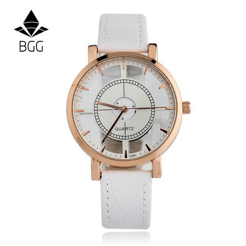 BGG brand Hollow women's Luxury Creative watch womens casual Watches leather ladies dress Quartz Wristwatch female clock hours