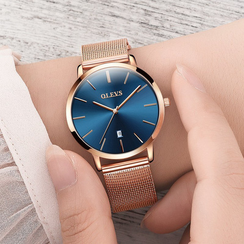 OLEVS Brand Woman Watch 2018 Luxury Women Watches Ladies Gold Steel Strap Quartz Date Watches Casual Waterproof Lady Wrist watch