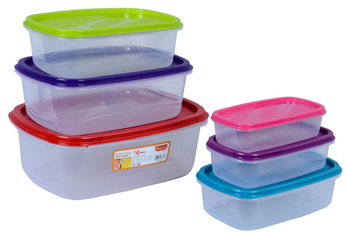 Princeware Store Fresh Food Storage Container Set 6 Pcs 5666-6