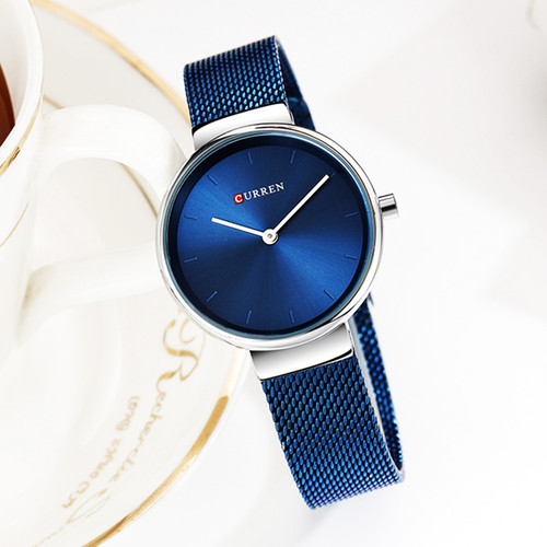 Curren Watch Luxury Women Watches Waterproof Blue Analog Quartz Dress Women Watches Steel Bracelet Ladies Watch Relogio Feminino