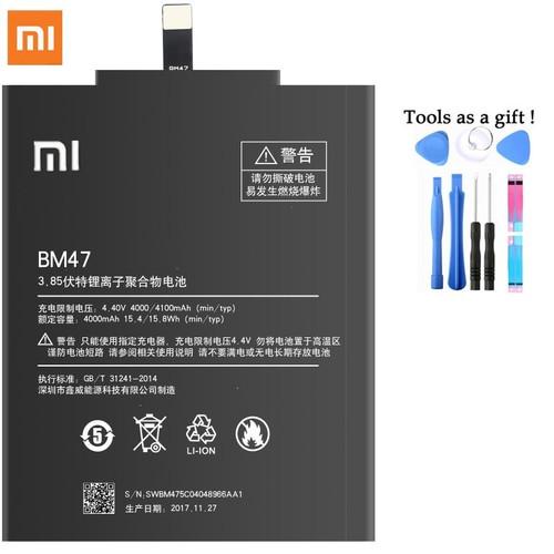 Original Battery BM47 For Xiaomi Redmi 3 3S 4X 3X Replacement Batteries 4100mAh High Capacity Lithium Polymer Bateria