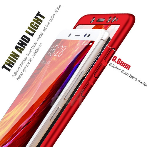 H&A Luxury Full Protective Phone Case For Xiaomi Redmi Note 5 Cover Case For Redmi Note 5A Protection Case With Tempered Glass