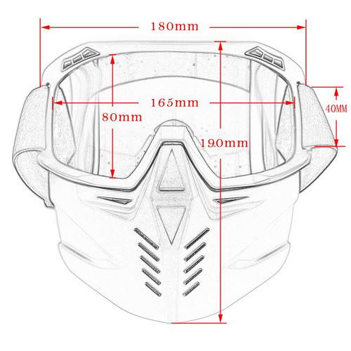 Motorcycle Cycling Helmet Mask Glasses Removable Goggles Waterproof HD Anti-UV Eyewear for Off Road Moto Motocross Mask Goggles