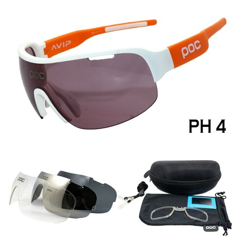 New Half Frame Polarized 4 Lens Cycling Glasses Men Women Cycling Eyewear Mountain Bike Goggles Bicycle Cycling SunGlasses