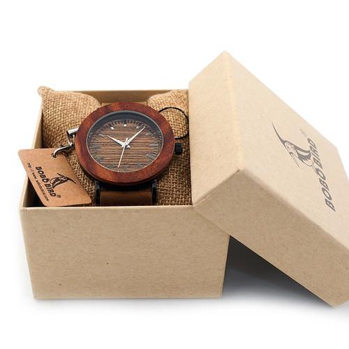 2017 BOBO BIRD Luxury Brand Women Watches Genuine Leather Strap Wood Quartz Wrist-Watch for Ladies Gifts Relogio Feminino
