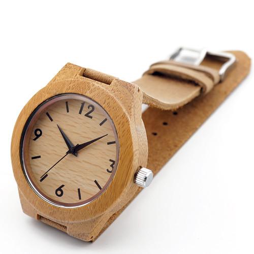 2017 TOP Luxury Brand BOBO BIRD Women Wristwatch Handmade Natural Wood Bamnoo Watches With Genuine Leather relogio feminino