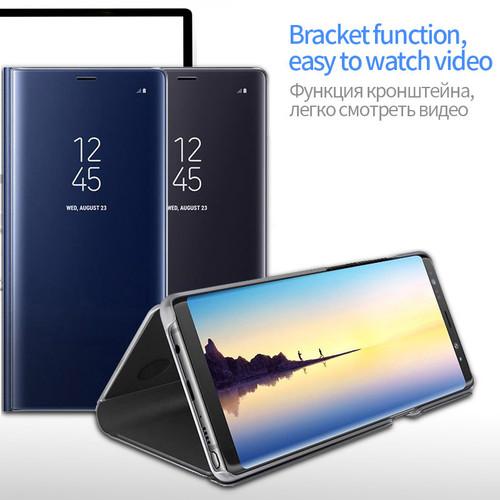 Clear View Mirror Smart Case For OPPO R15 R11 plus f7 f5 A71 A83 A59 find x Flip Stand Cover for VIVO V9 X21 X20 Plus Y85 NEX