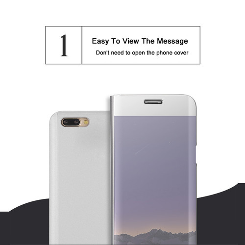 Smart Flip Transparent View Mirror Case For Oppo F7 R15 R11 Plus A83 A59 F5 Find X For Vivo V9 X20 X21 X20 Plus Y85 NEX Cover