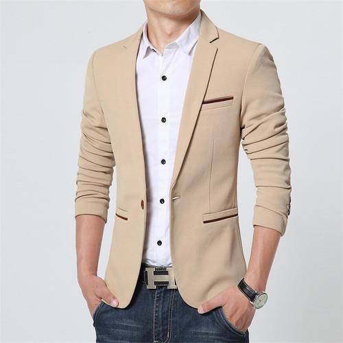 FGKKS New Spring Casual Men Blazer Cotton Slim Fit High Quality Luxury Blazer Male 2018 Fashion Brand Blazer Men Suits
