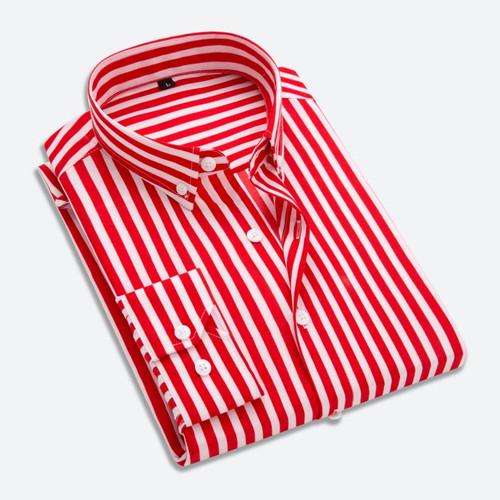T-bird Shirt Men 2018 New Striped Long Sleeves Mens Dress Shirts Camisa Masculina Spring Summer Brand Casual Male Shirt Tops 5XL