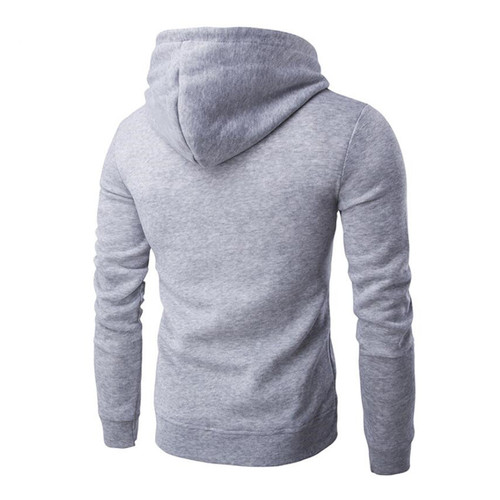 Covrlge 2018 Spring New Men Hoodies Men's Solid Hooded Sweatshirt Fashion Slim Thin Sportswear Male Tracksuit Cardigan MWW083