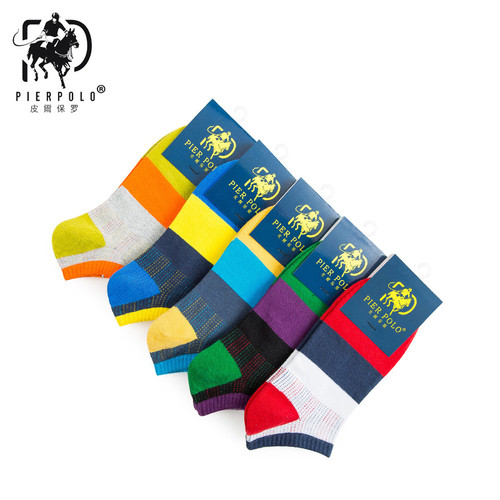 2018 Casual The New Korean Version Pierpolo Spring And Summer Ship Socks Striped Cotton Comfortable Men Manufacturers Wholesale