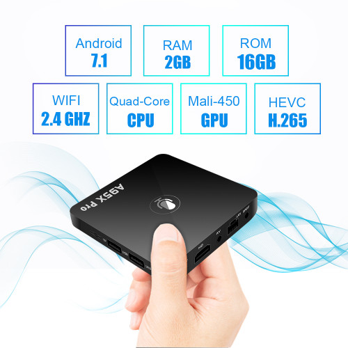 Google TV Box A95X Pro 2G 16G Smart Android 7.1 TV Box Voice Control Amlogic S905W WiFi LAN HD Media Player PK X96mini X96 mini